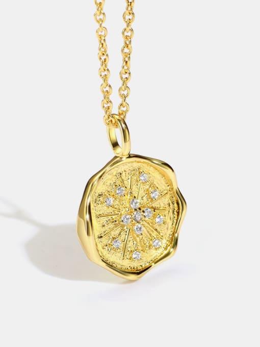 CHARME Brass Cubic Zirconia Geometric Minimalist Necklace