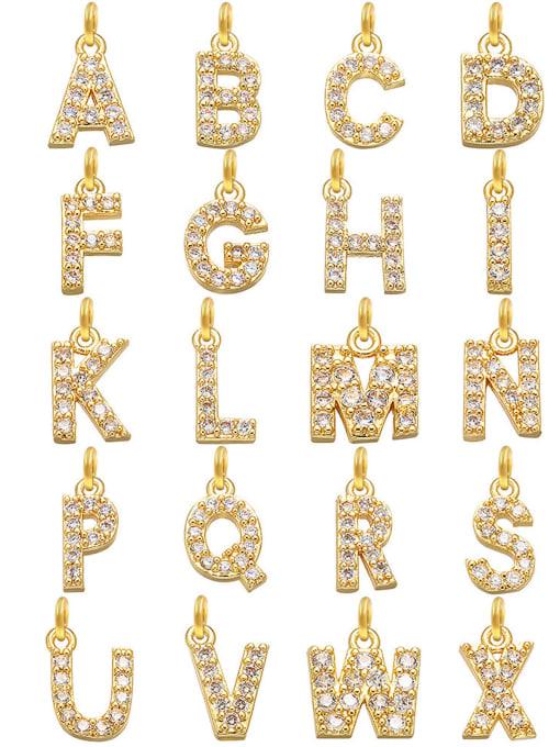 LI MUMU Titanium Steel Cubic Zirconia Letter Vintage Necklace 3