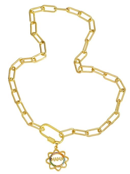 CC Brass Cubic Zirconia  Minimalist Letter Heart Pendant Necklace 3