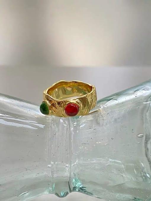 LI MUMU Brass Irregular Vintage Band Ring 2