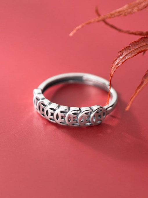 Rosh 925 Sterling Silver Round Vintage Band Ring 1