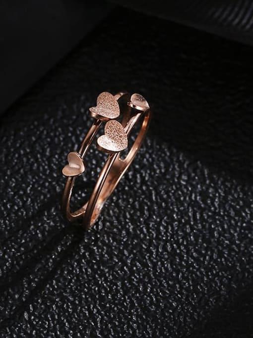 MIYA Titanium Steel Heart Minimalist Stackable Ring 0