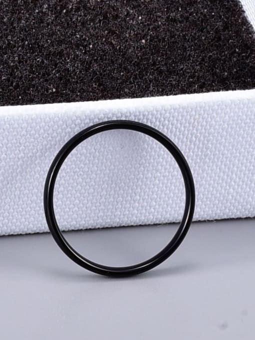 A TEEM Titanium Round Minimalist Band Ring 1