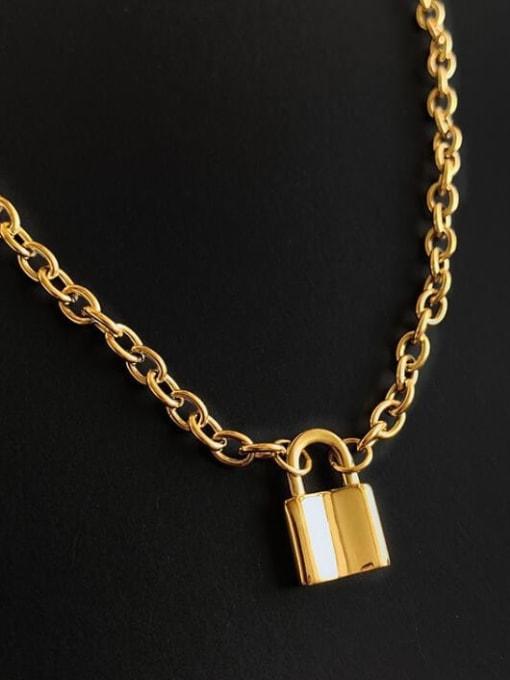A TEEM Titanium Locket Vintage Hollow Chain Necklace 0