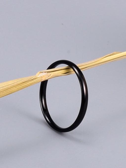 A TEEM Titanium Round Minimalist Band Ring 3