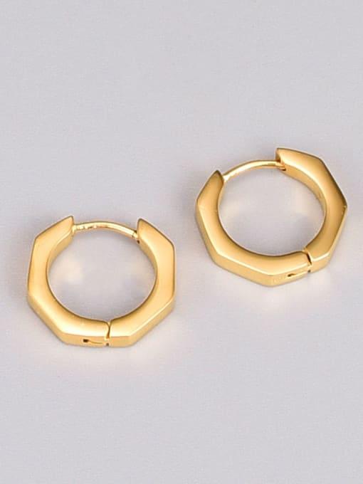 A TEEM Titanium Steel Geometric Minimalist Huggie Earring 2