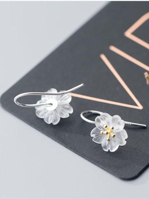 Rosh 925 Sterling Silver Acrylic Flower Minimalist Stud Earring 2