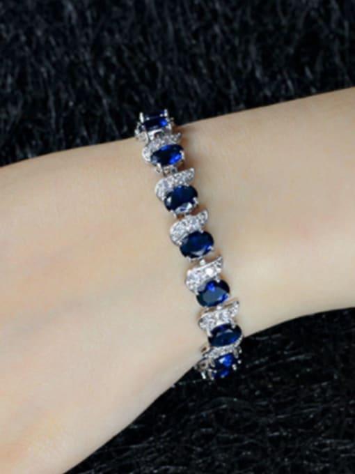 L.WIN Brass Cubic Zirconia Geometric Luxury Bracelet 3