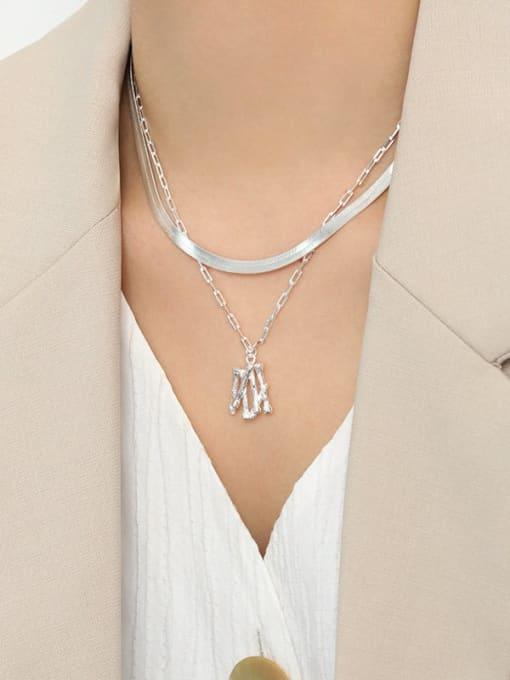 DAKA 925 Sterling Silver Round Minimalist Necklace 1