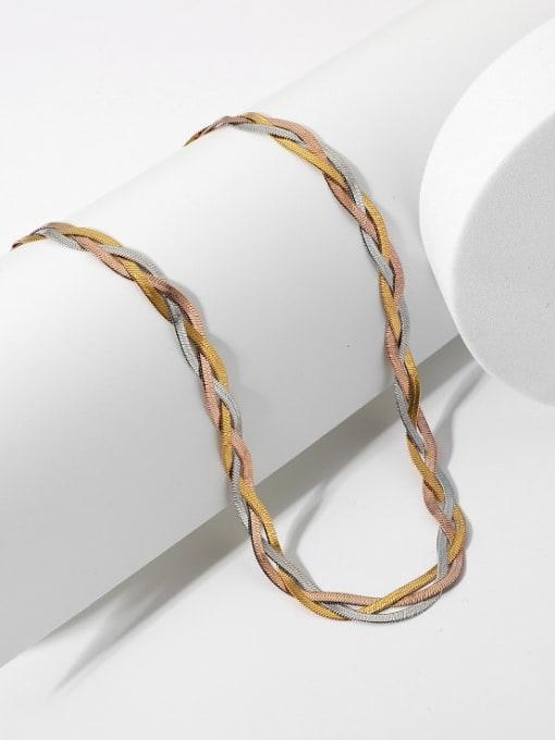 A TEEM Titanium Steel Irregular Vintage Necklace 1
