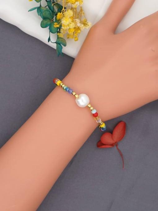 Roxi Stainless steel Bead Multi Color Round Minimalist Beaded Bracelet 1
