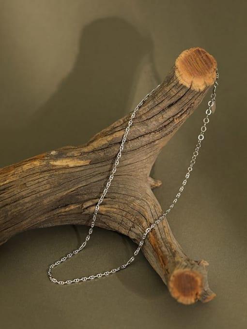 Dak Phoenix 925 Sterling Silver Hollow Geometric Minimalist Chain Necklace 1