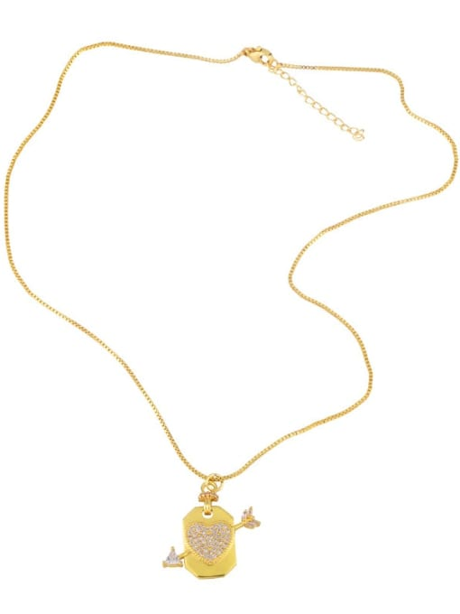 CC Brass Cubic Zirconia Star Hip Hop Necklace 3