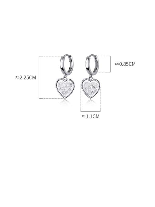 Rosh 925 Sterling Silver Heart Minimalist Huggie Earring 3