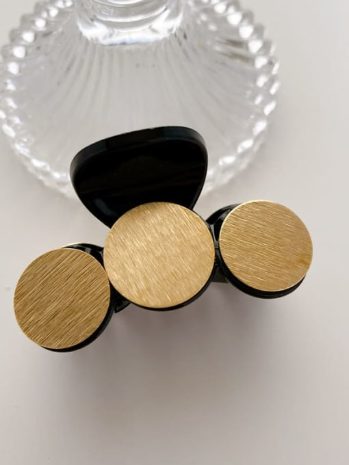 C black 5cm Alloy Shell  Bohemia Geometric Hair Barrette