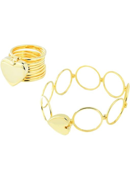 18K gold 925 Sterling Silver Heart Minimalist Stackable Ring