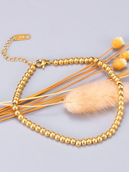 A TEEM Titanium Bead Round Minimalist Beaded Bracelet 0