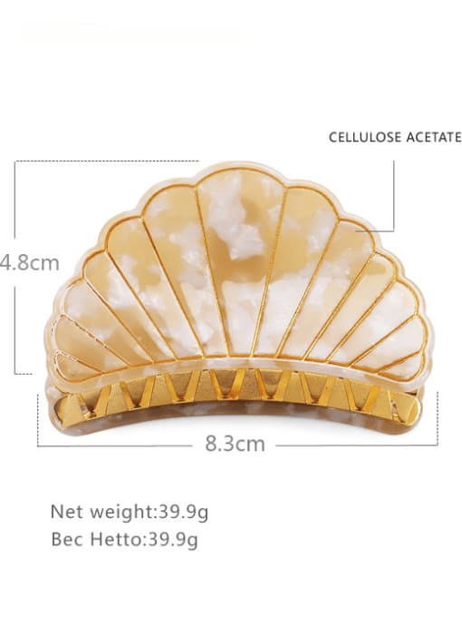 Yellow Large Cellulose Acetate Minimalist Geometric Zinc Alloy Jaw Hair Claw