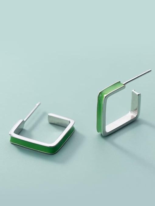 Rosh 925 Sterling Silver Enamel Geometric Minimalist Stud Earring 3