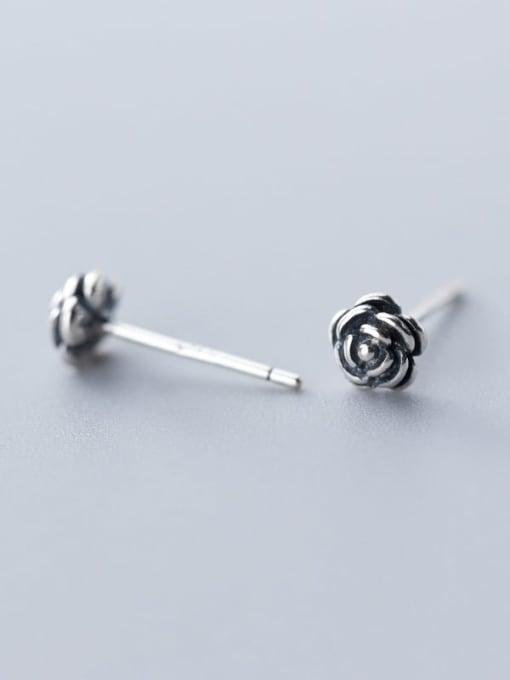 Rosh 925 Sterling Silver Flower Vintage Stud Earring 1