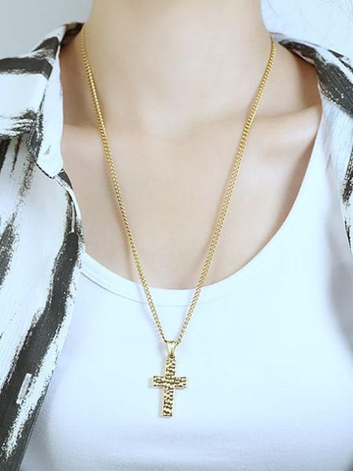 Open Sky Titanium Steel Cross Hip Hop Regligious Necklace 3
