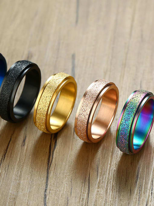 CONG Stainless steel Round Minimalist Band Ring 2