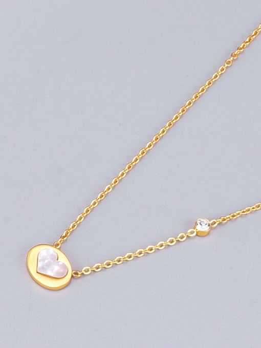 A TEEM Titanium Shell Heart Minimalist Necklace 3