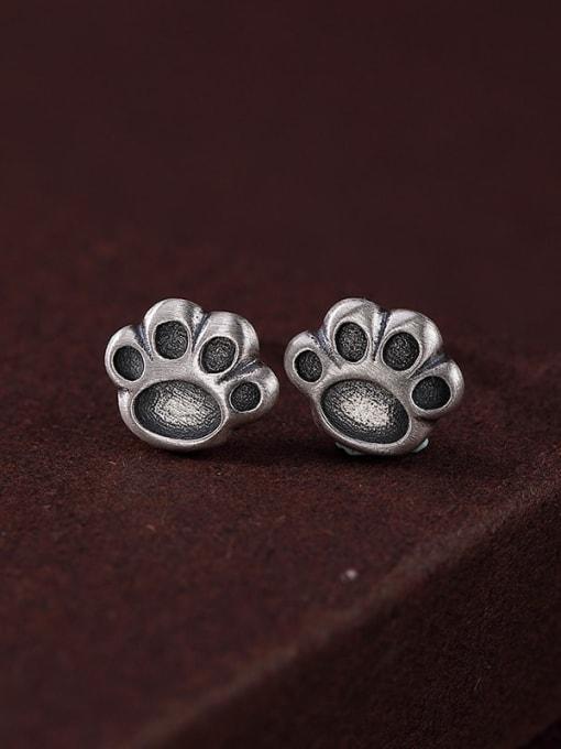 DEER 925 Sterling Silver Irregular Vintage Stud Earring 0