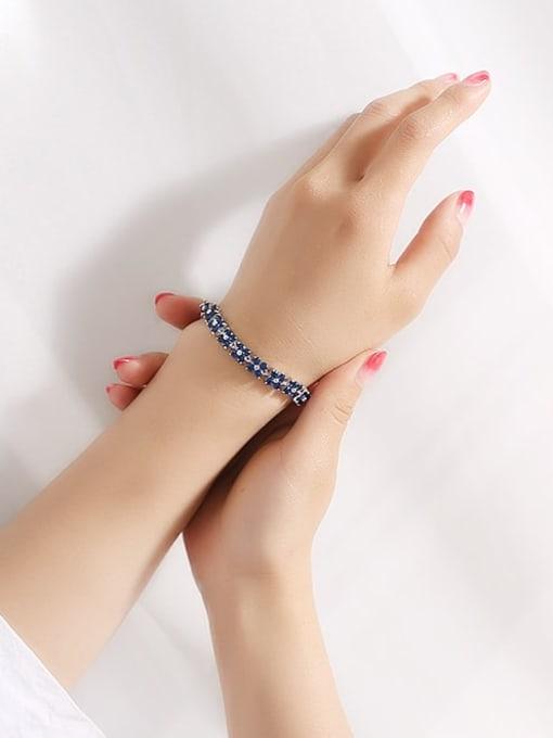 DUDU Brass Cubic Zirconia Clover Dainty Bracelet 1