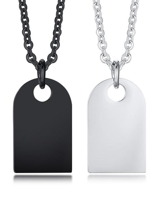 CONG Titanium Steel Geometric Vintage Necklace
