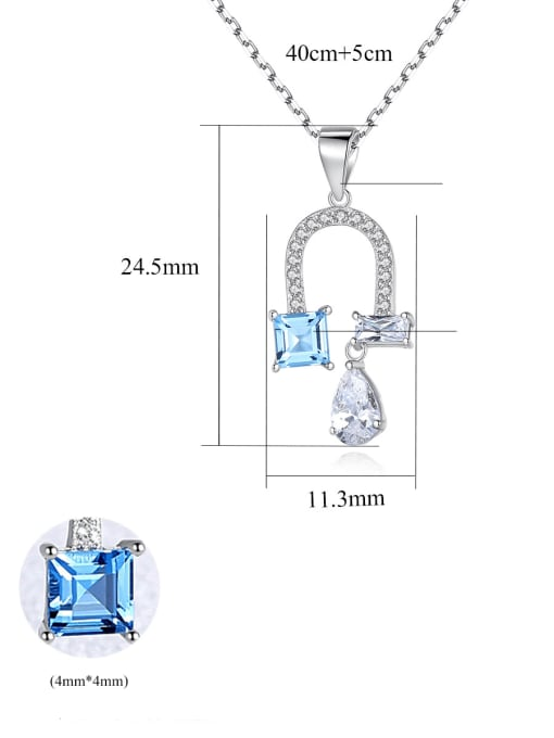 CCUI 925 Sterling Silver Cubic Zirconia Flower Dainty Necklace 4