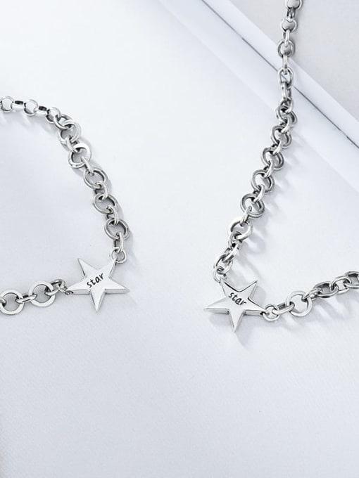 XBOX 925 Sterling Silver Vintage Multi Strand Necklace 2