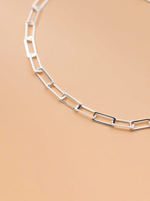 Rosh 925 Sterling Silver  Hollow Geometric Minimalist Anklet 2