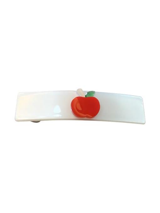 Chimera Alloy Cellulose Acetate Minimalist Cartoon apple pattern Spring clip Girl top clip 4