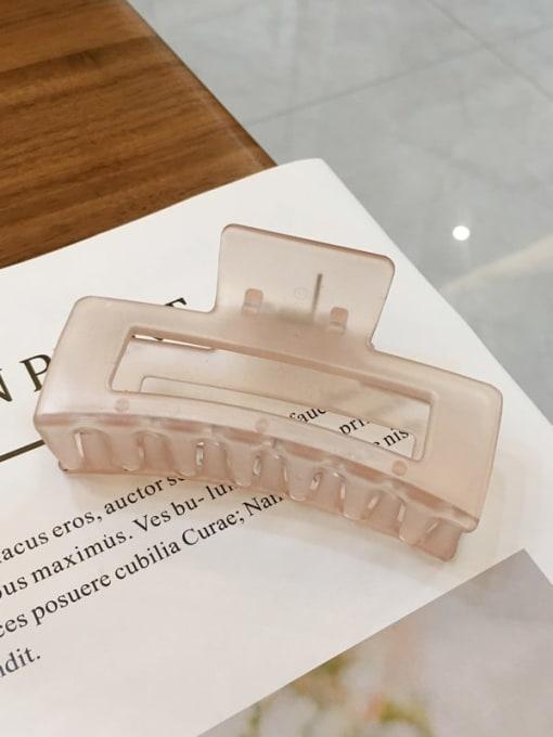Orange 8.8cm Alloy  Cellulose Acetate Minimalist Geometric Jaw Hair Claw