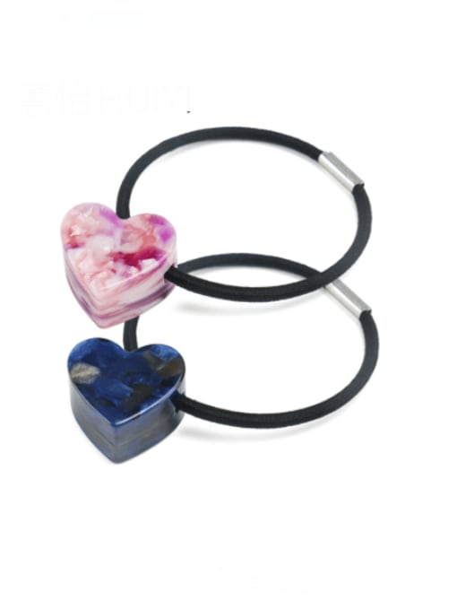 HUIYI Cellulose Acetate Minimalist Heart Hair Rope 0