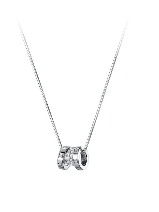 Rosh 925 Sterling Silver Cubic Zirconia Geometric Vintage Necklace 3
