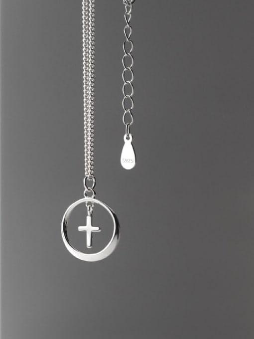 Rosh 925 Sterling Silver Cross Minimalist  pendant Necklace 3