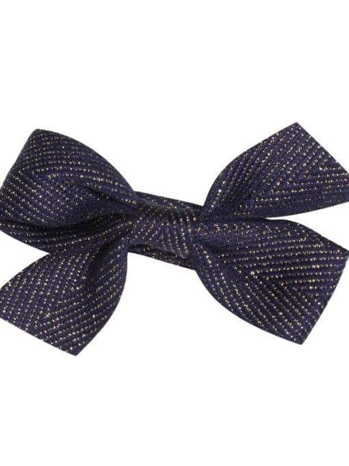 8 dark royal blue Alloy Fabric Cute Bowknot  Multi Color Hair Barrette