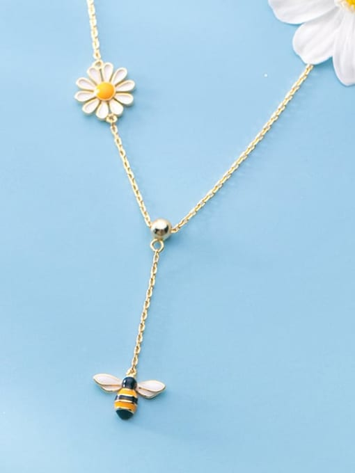 Rosh 925 Sterling Silver Enamel Insect Cute Lariat Necklace