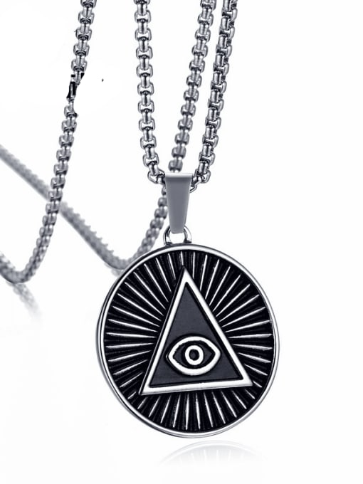CONG Stainless steel Geometric Vintage Necklace 0