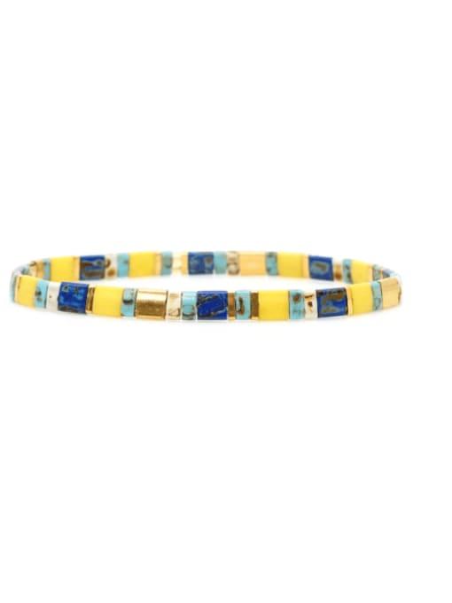 TL B190262C Stainless steel TILA Bead Multi Color Geometric Bohemia Handmade Weave Bracelet