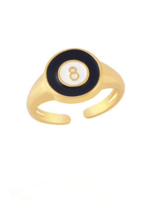 CC Brass Enamel Geometric Minimalist Band Ring 3