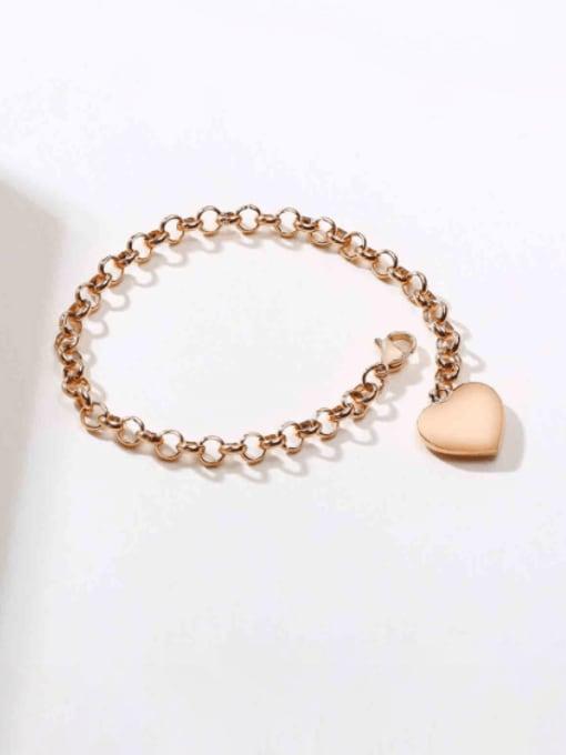 CONG Titanium Steel Heart Vintage Link Bracelet 2