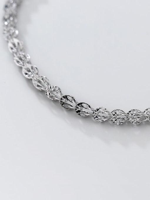 Rosh 925 Sterling Silver Irregular Vintage Link Bracelet 3