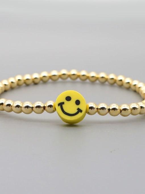 Roxi Stainless steel Polymer Clay Smiley Bohemia Beaded Bracelet 1