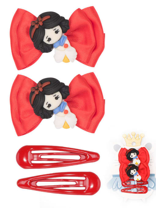 6 lovely little princess suit Alloy Yarn Cute Bowknot  Multi Color Hair Barrette