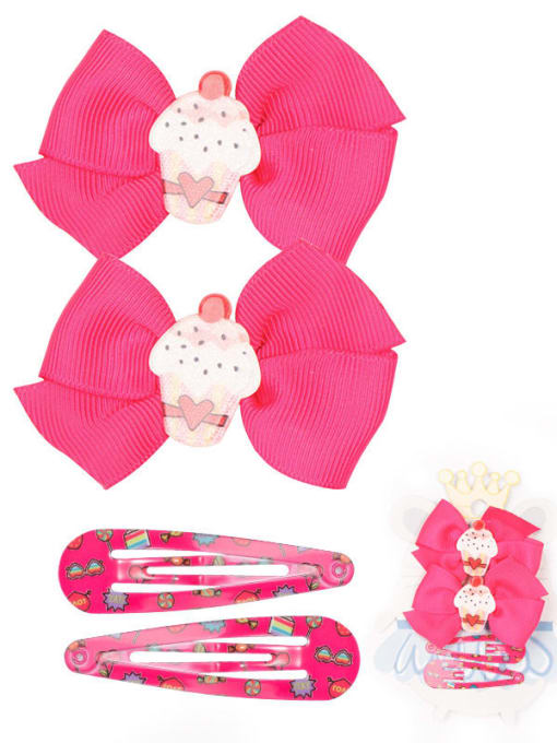 8 Mini love cake set Alloy Yarn Cute Bowknot  Multi Color Hair Barrette