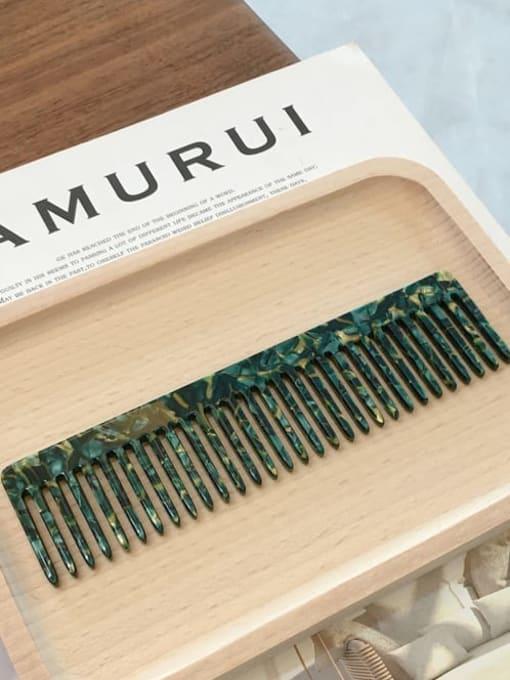 K034 emerald green Cellulose Acetate Minimalist Geometric Hair Comb