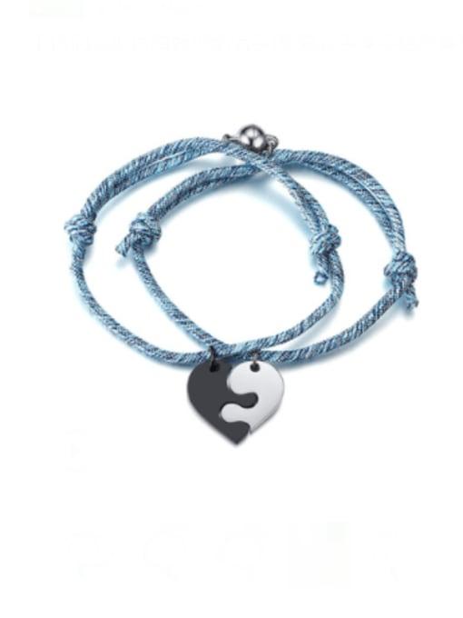 CONG Titanium Steel Heart Vintage Bracelet